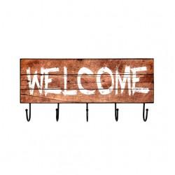 Cuier perete cu aspect vitange   Welcome