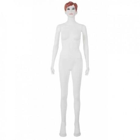 Manechin dama din plastic alb