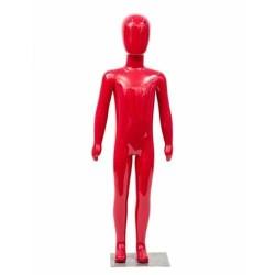 Manechin copil plastic lucios rosu 116 cm