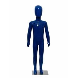 Manechin copil plastic lucios albastru 116 cm