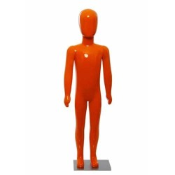 Manechin copil plastic lucios portocaliu 116 cm